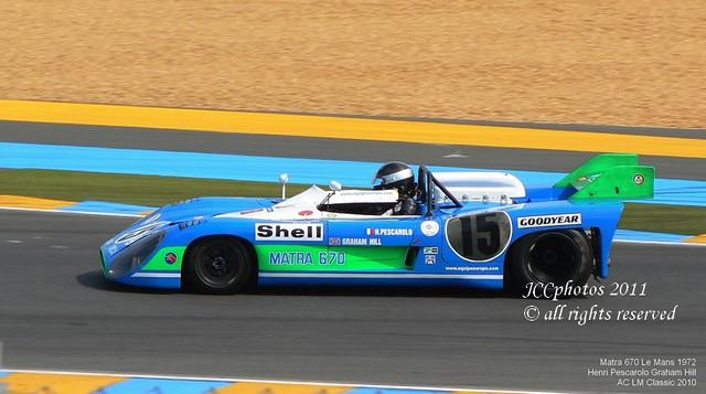 Le Mans Classic 2010 Matra MS670 Henri Pescarolo Graham Hill