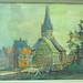 3. August 2011 - 11:05 - 010740 Kirche in Ottweiler mit Kuh im Vordergrund