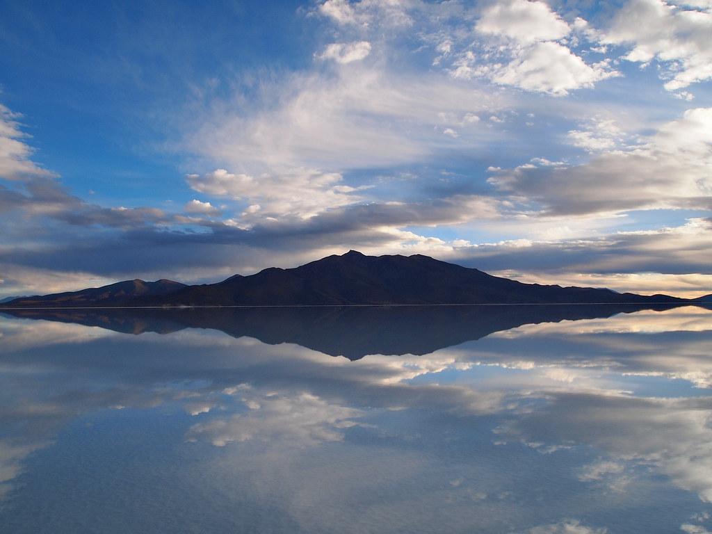 Reflection Mirror Salar De Uyuni Bolivia A Reflection Like