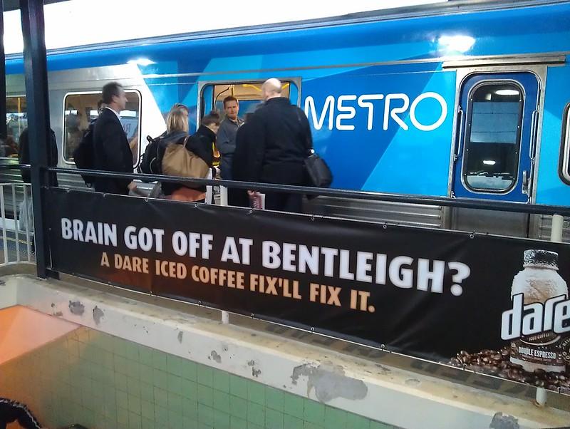 Dare Iced Coffee ad, Richmond station