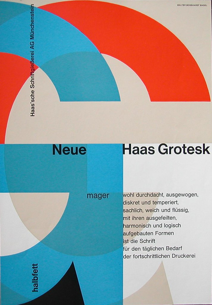 Neue Haas Grotesk | One of the first promotionals, designed