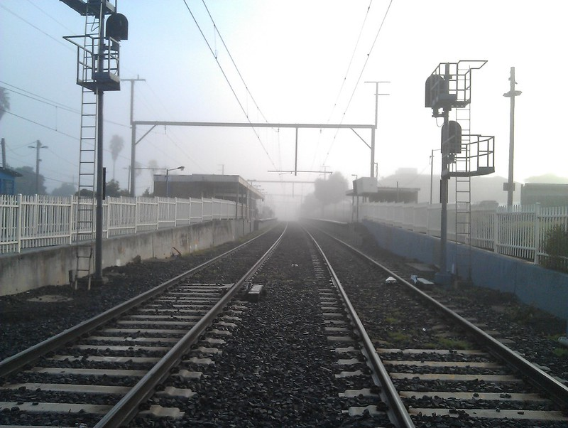 Fog, Bentleigh station, 8:40am 15/7/2011