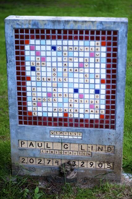 Scrabble Gravestone
