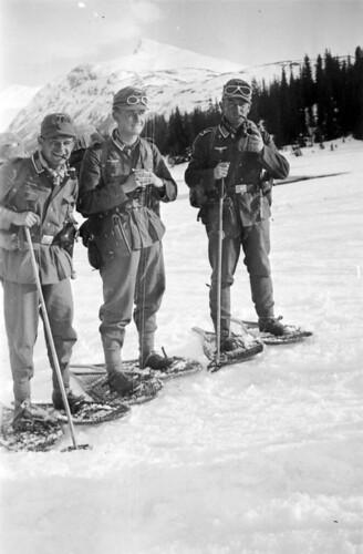 Tre bergjegere på Korgenfjellet
