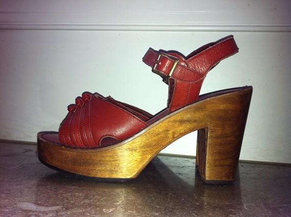 c2eeb553c6 ... 1970s wood platform sandals | by Retro Trend Vintage