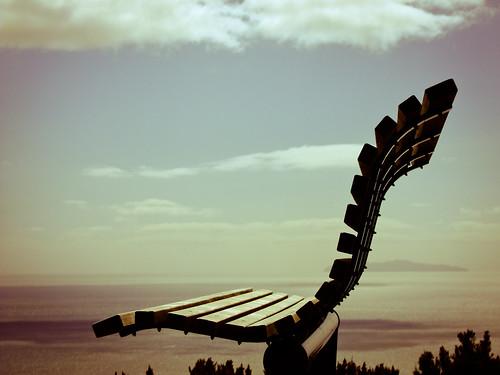 ocean newzealand bench view seat scenic nz summit tauranga mauao fujifilmfinepixs200exr s200exr