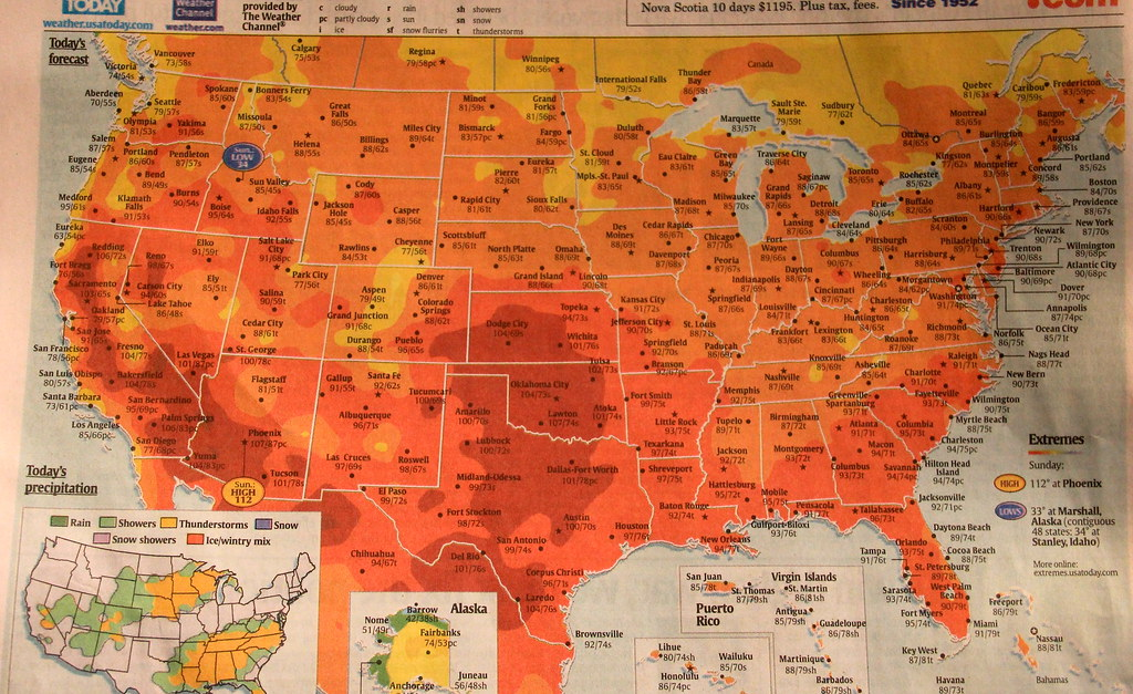 Usa Today Weather Hot Country San Diego In The 70 S Flickr