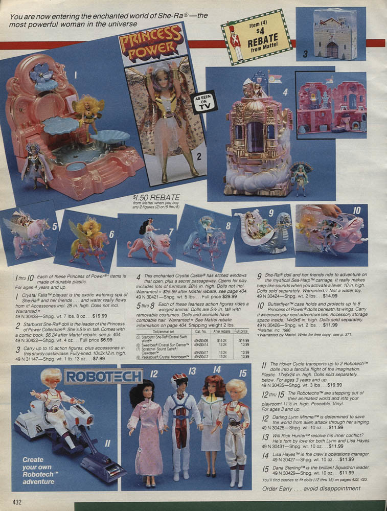 Sears Wishbook Christmas 1986 She-ra Princess of Power Rob