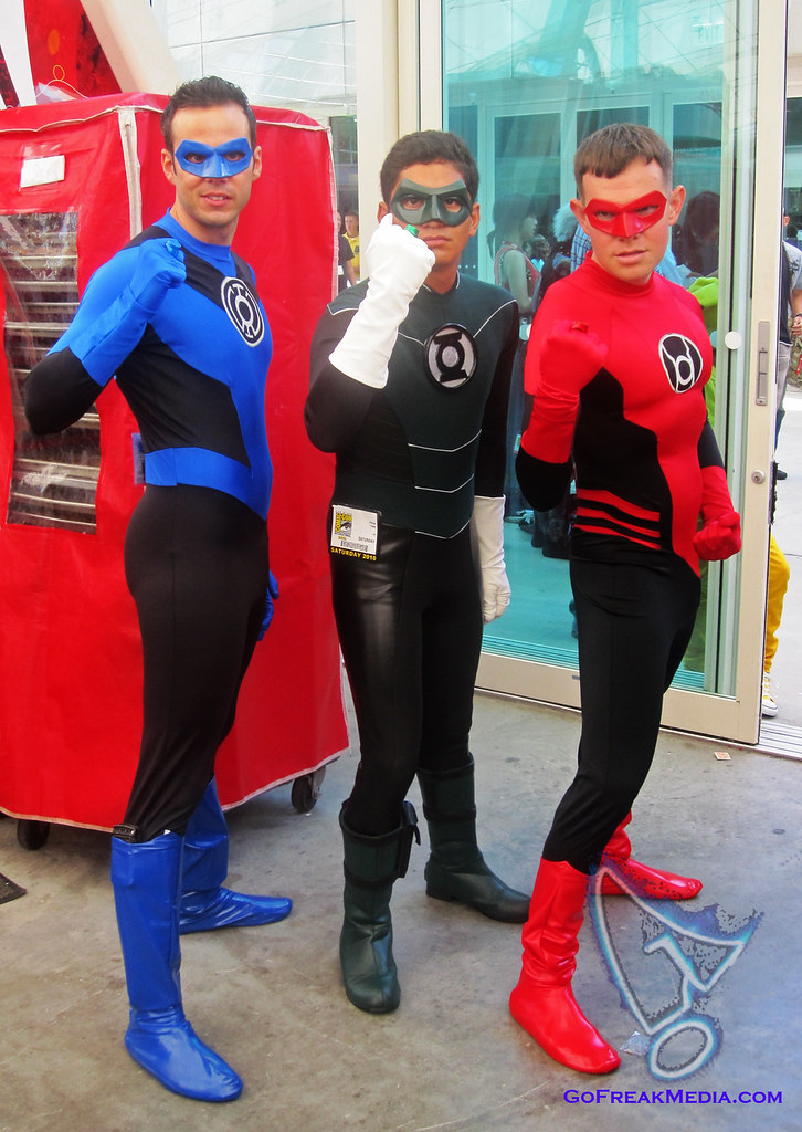 Blue Green Red lantern cosplay comic-con 2010wm | Mojito ...