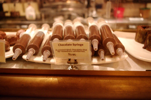 Max Brenner's chocolate syringes | by PommeGranny