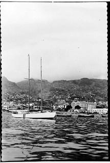 Yacht SIRIUS moored off Funchal, Madeira Island