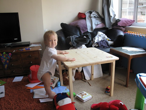 William with the finished table | by lilspikey