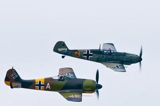 Focke-Wulf Fw 190 A-5 & Messerschmitt Bf 109 E-3