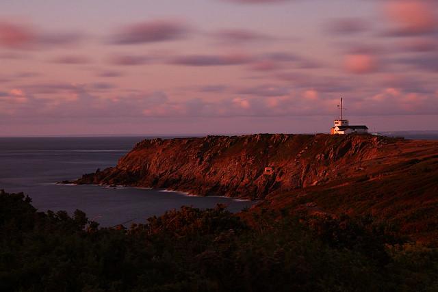 Pointe du Grouin, coucher de soleil