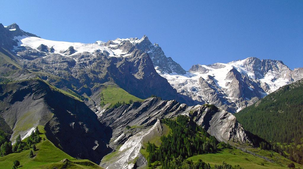 Glacier De La Meije from La Grave