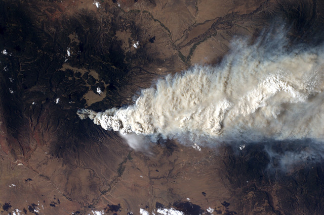 View of Las Conchas Fire from International Space Station