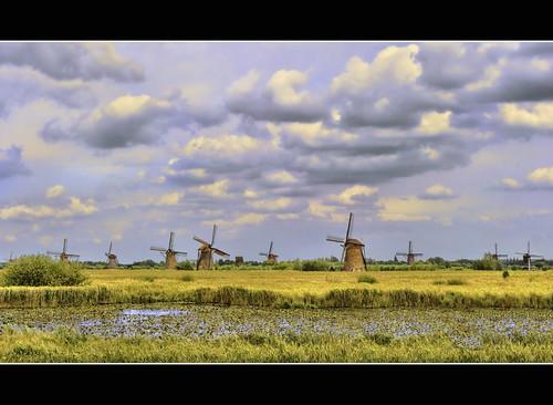 sky panorama holland green mill netherlands windmill dutch grass canon photography photo pond horizon stock nederland powershot shrub kinderdijk stockphoto s90 stockphotography s100 wpk s95