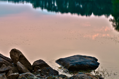 trees lake water sunrise georgia rocks hdr lakejulieette