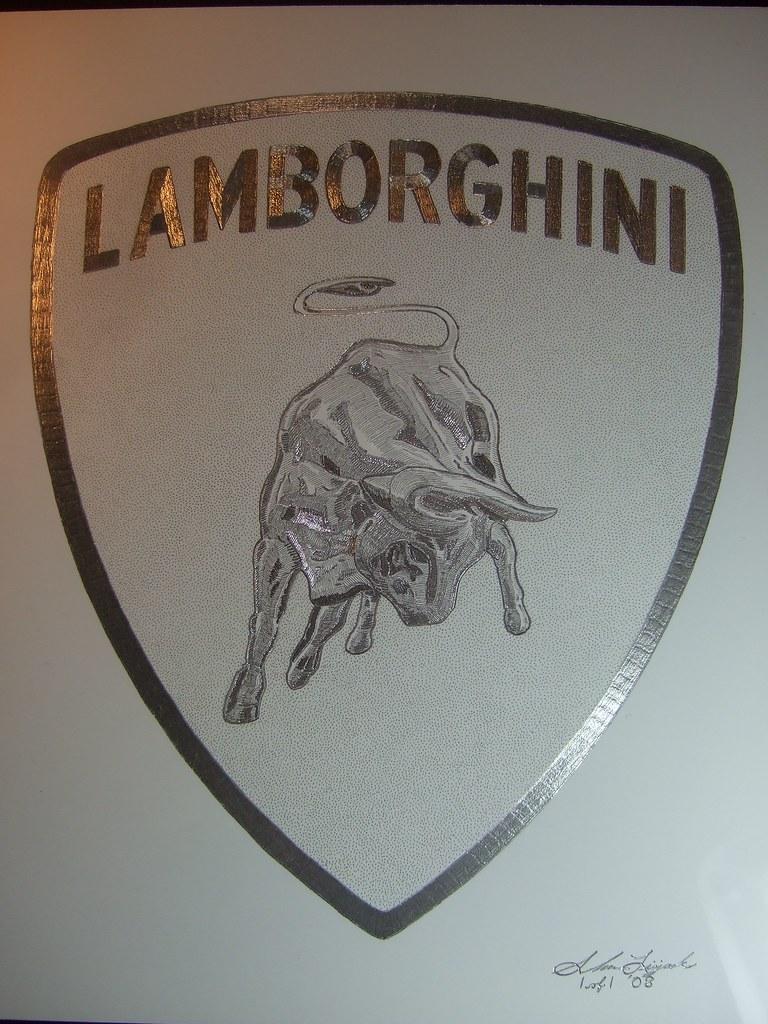 Lamborghini Logo Hand Engraved By Artist Shawn Lisjack Flickr