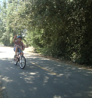 August 6, 2011 - Samuel rides a bicycle #4   by juliejordanscott