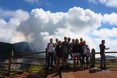 Group shot at the main crater, Poás Volcano National Park / Foto del grupo al cráter principal, Parque Naciónal Volcán Poás