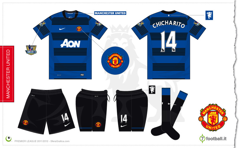 fdee9f3ef43 ... Manchester United away kit 2011 2012