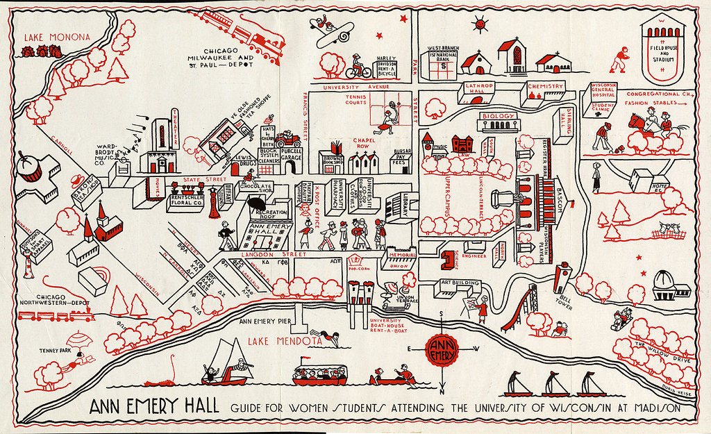 University Of Wisconsin Campus Map University of Wisconsin campus map, 1927 | University of Wis… | Flickr