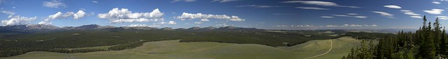 High Park Lookout Panorama - Bighorn National Forest, Wyoming