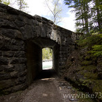 Tunnel under Going to the Sun Road by McDonald Creek