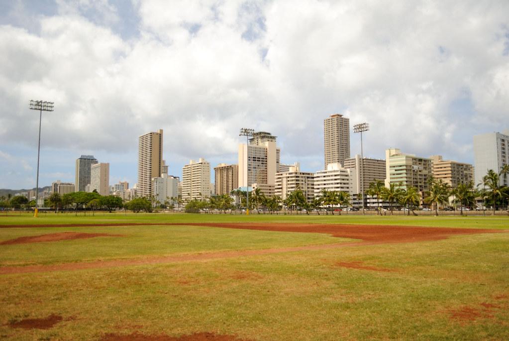 Baseball field @ Ala Wai Park