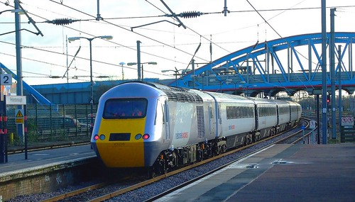 RD02760 NXEC HST departing from Peterborough. | RD2760 ...