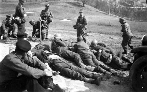 Engelske krigsfanger etter kampene ved Stien