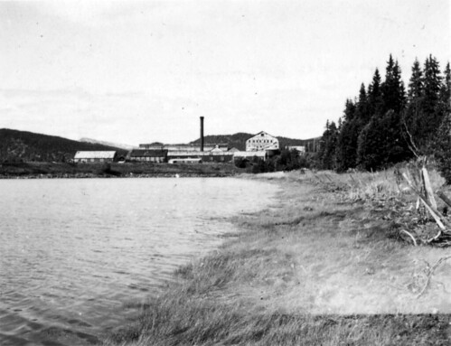 Fabrikken til Dunderland Iron Ore Company i Mo i Rana