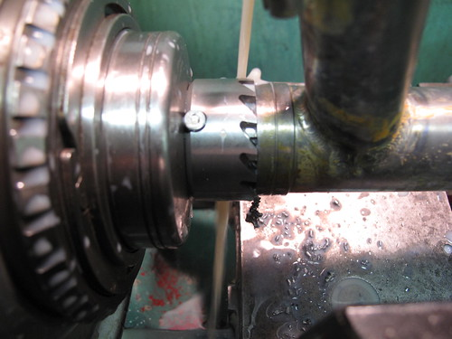 Reaming and facing a HT on the lathe