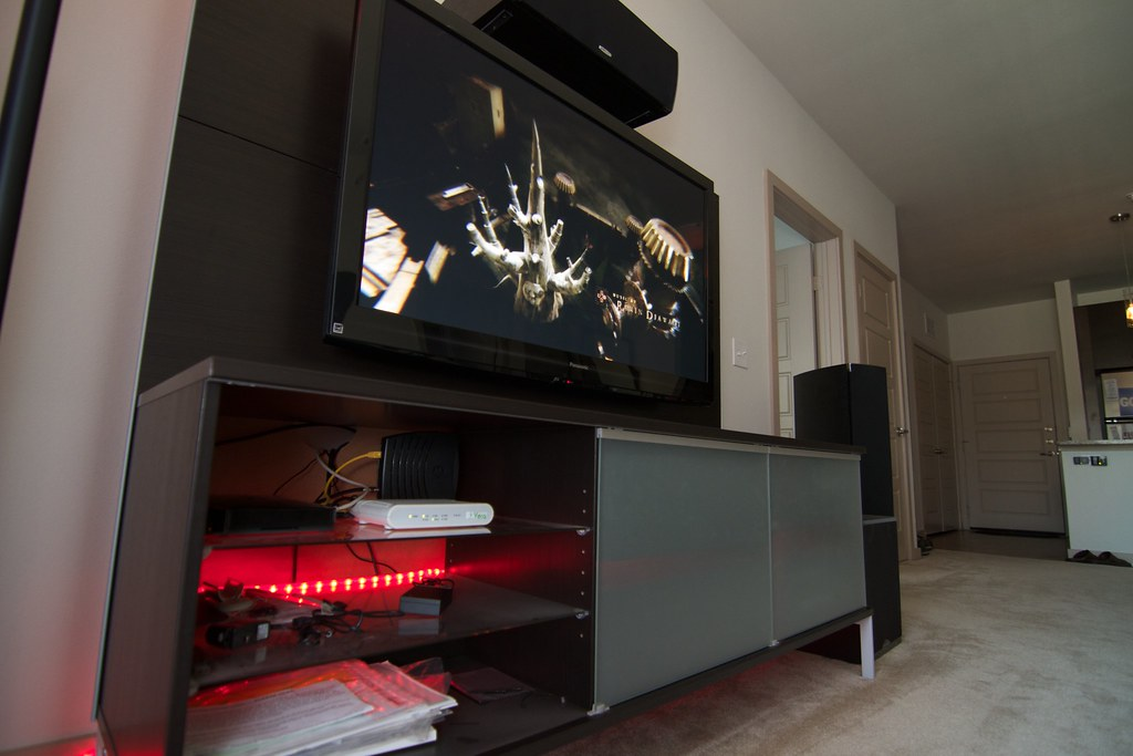 Home Theater Cabinet | This Cabinet Features My Network Hub ...