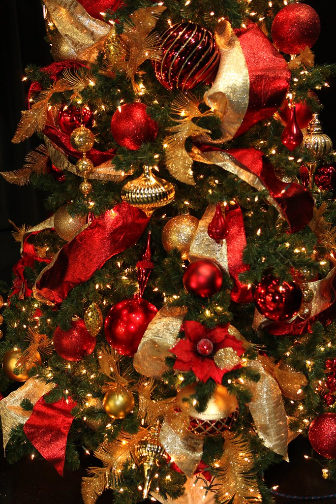 Red and Gold Christmas Tree Decorations  Red and Gold 10ft C  Flickr