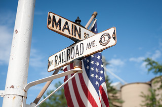 American Flag at Main Street and Railroad Avenue, Small Town Illinois | by goingslowly