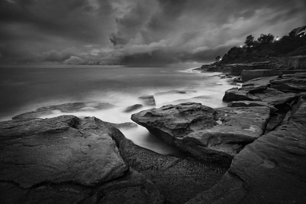 Image: South Lurline Bay (B&W)