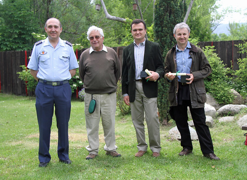 <p>De izquierda a derecha, el Coronel D. Fernando Orcada (43 Grupo de las Fuerzas Aéreas del Ejército del Aire), D. Carlos Romero, D. Federico Sepúlveda y D. Ricardo Montón.</p>