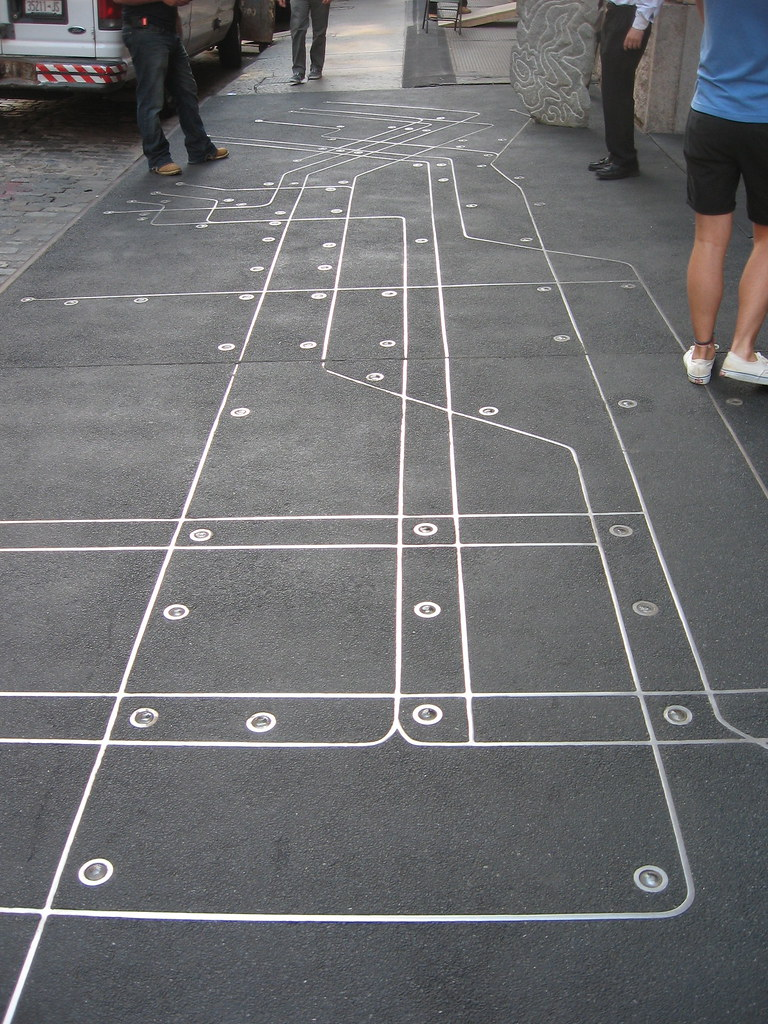 Subway Map Floating On A Ny Sidewalk New York Ny.Subway Map Floating On A N Y C Sidewalk Soho Subway Map Flickr