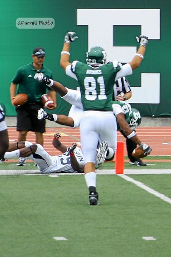 Leaping to a touchdown
