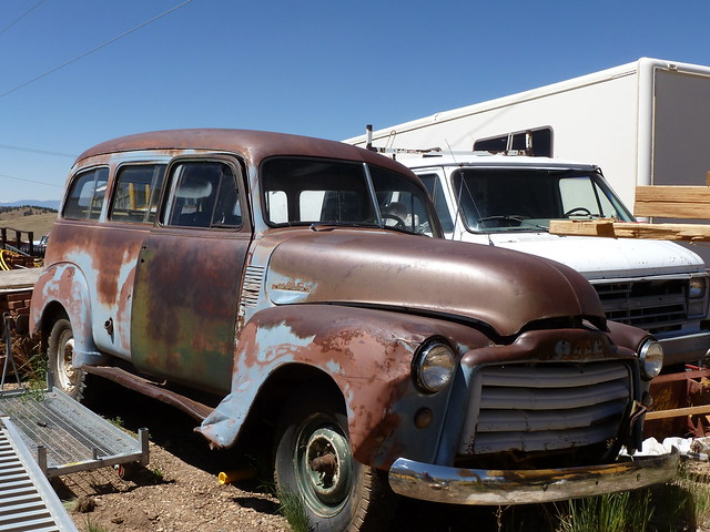Old GMC vehicle