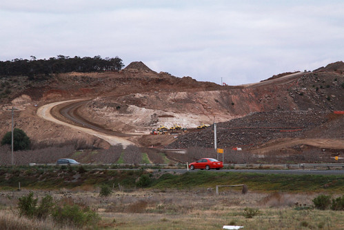 Cuttings for the new Western Freeway alignment at Bacchus Marsh