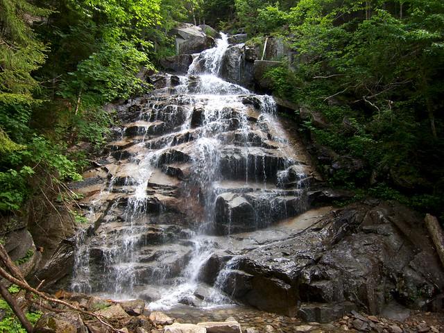 0:45:20 (13%): waterfall hiking newhampshire whitemountains franconianotch mtlafayette fallingwaterstrail mtlincoln franconiarange