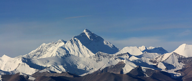 Everest's ridges and faces