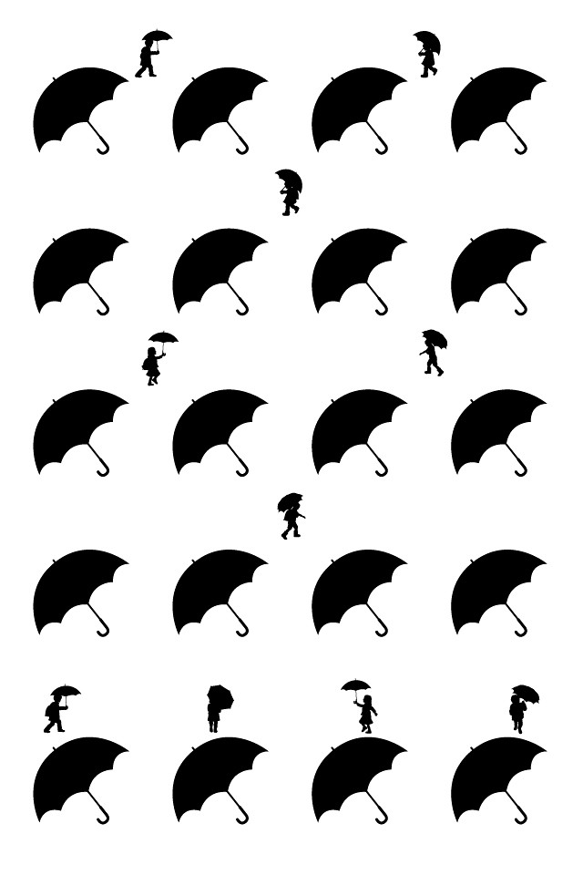 Iphone Wallpaper 子供と傘 壁紙 忍者のタマゴ 囧 Flickr
