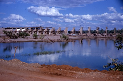 1962-08-ca - Ord River Diversion Dam crossing the river - KHS-2011-31-379-3.17-P2-D | by Kununurra Historical Society