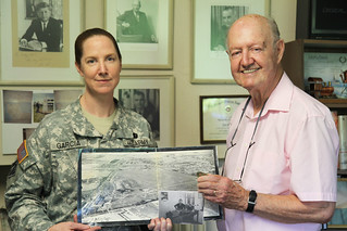 WWII vet presents USACE with historic headquarters photo