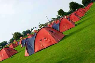 Our own tent city starts to go up | by BritIslam