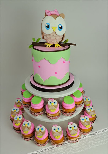 Incredible Owl First Birthday Cake Christine Pereira Flickr Funny Birthday Cards Online Fluifree Goldxyz